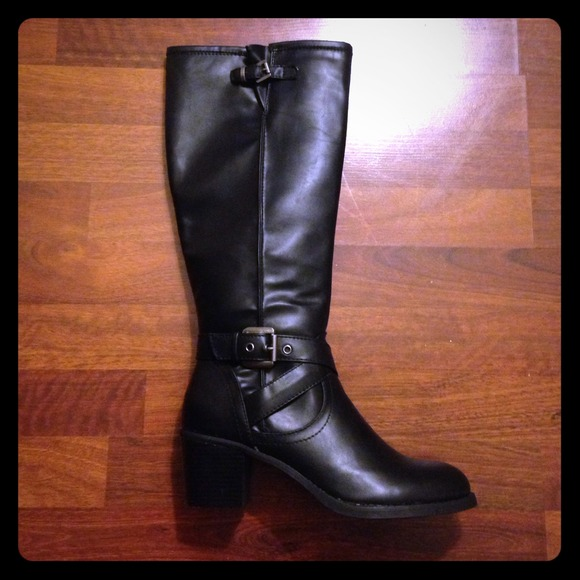 57 kohls shoes brand new black knee high boots size