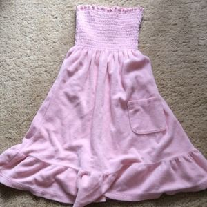 Juicy couture pink terry cotton tube top dress