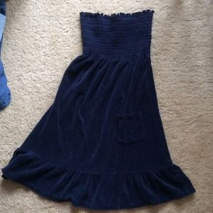 Juicy couture blue smock terry tube top dress