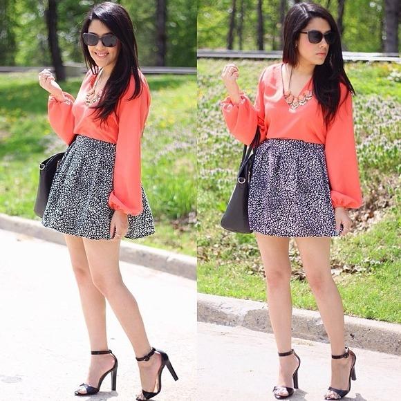 Aeropostale Dresses & Skirts - Black & White Print Skirt