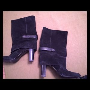 REDUCED!!! Black suede Tahari HARPER Boots