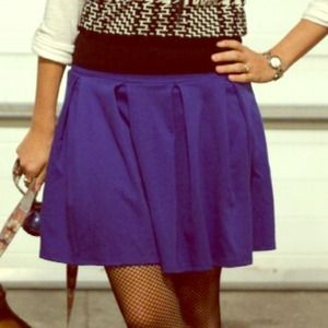 Cobalt blue American Eagle Pleated Skirt, size S