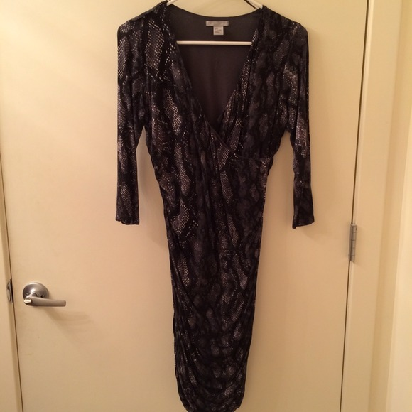 Print Faux Wrap Dress From