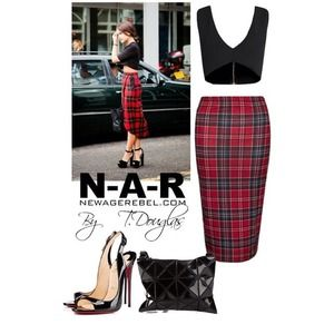 Amazing plaid pencil skirt❤️