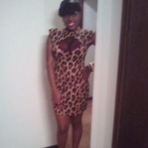 Motel rocks leopard  dress
