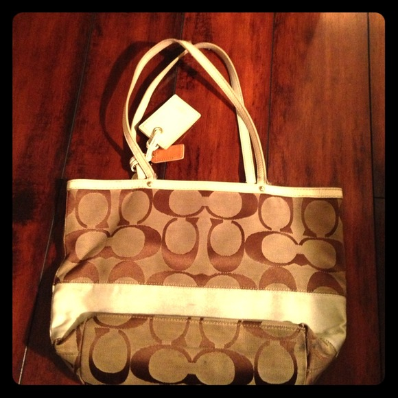 how to clean a coach fabric purse