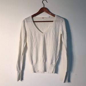 UNIQLO Sweaters - Cream cotton cashmere check top by Uniqlo