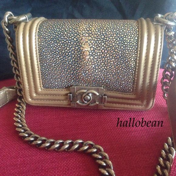 c2bee956c5b02d CHANEL Bags | Gold Stingray Boy Bag | Poshmark