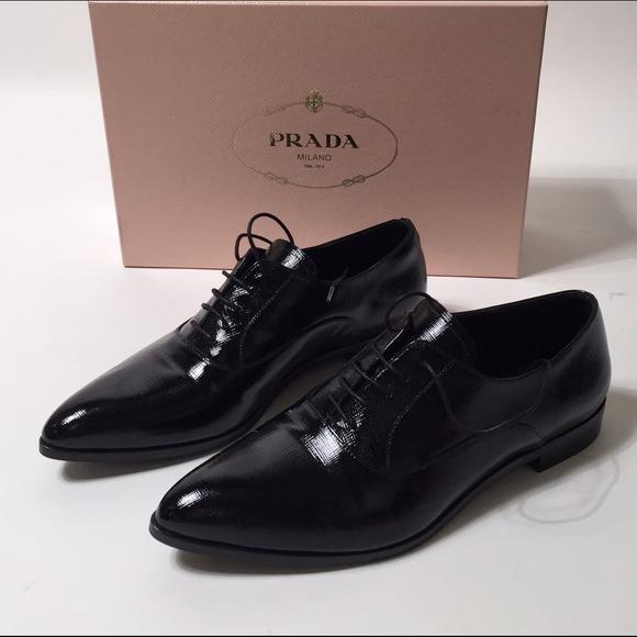 prada shoulder bag nylon - 39% off Prada Shoes - Prada Black Leather Oxfords from Tracy's ...