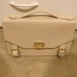 Forever 21 White Messenger Bag