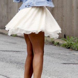Sequin Skirt Off White
