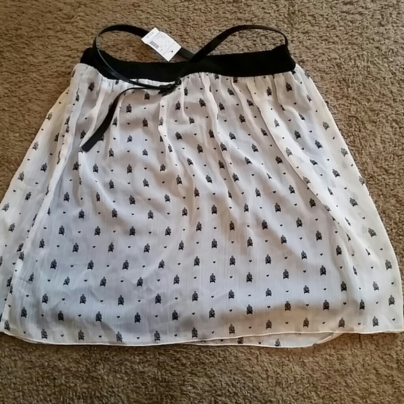 2d26bf4ef Maurices Skirts | Black And White Bird Cage Skirt | Poshmark