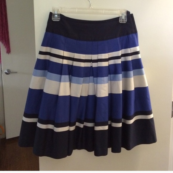 77 h m dresses skirts navy white and blue