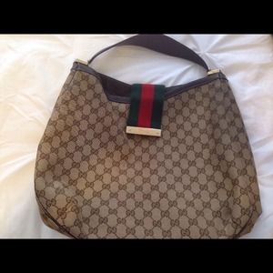 Authentic large Gucci hobo bag