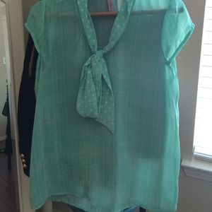 ModCloth sheer tie top