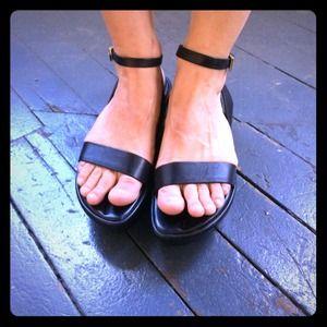 Black Prada Sandals Platform 6.5 7 37
