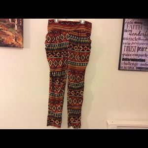 Pants - Tribal print pants