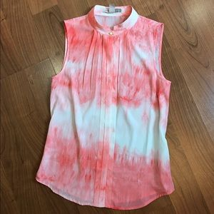 Red tie dye sleeveless tank
