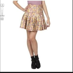 Zac Posen (for Target) floral metallic skirt