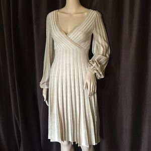 M Missoni Gold/Cream Dress 38