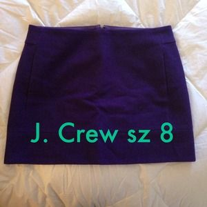 J. Crew royal purple wool mini skirt sz 8