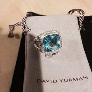 AUTHENTIC David Yurman Albion Blue Topaz Ring!