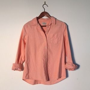 Madewell Tops - Madewell Orange Oxford shirt size small