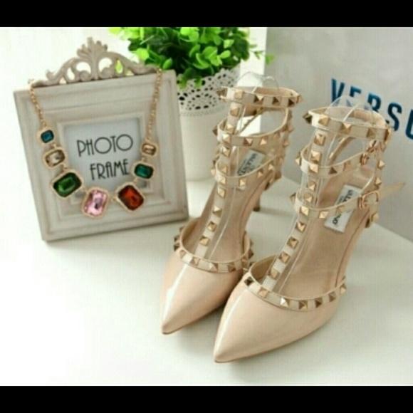 Shoes   Nude Studded Heels   Poshmark