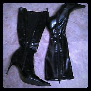 Black ALDO knee high stiletto boots