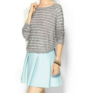 Tops - Grey striped sweater top