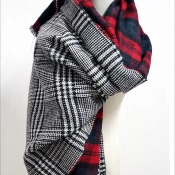 5f19321fc10a9 Zara Accessories | Blanket Tartan Scarf Double Sided | Poshmark