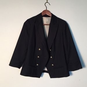 Anthropologie Jackets & Blazers - Anthropologie double breasted navy blazer size 4