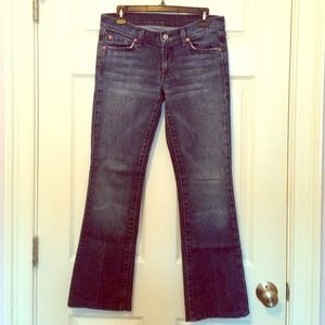 7 for all Mankind Bootcut Jeans 27 SHORT