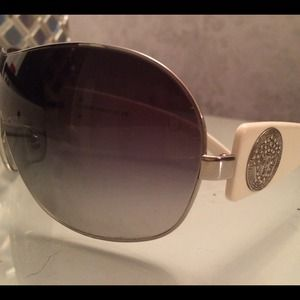 Versace sunglasses with white arms & rhinestones