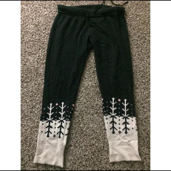 69% off GAP Pants - Gap GapBody Fair Isle Sweater Leggings Tights ...
