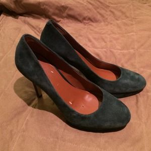 Banana Republic deep sea blue suede heel