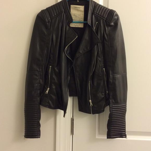48 Off Zara Outerwear Zara Trafaluc Leather Jacket Size