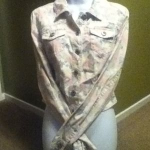 Mossimo Supply Co Jackets & Blazers - New floral jean jacket