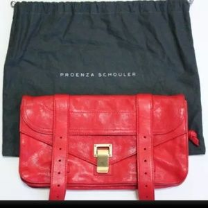 Proenza Schouler Clutch Leather Bag & Tag incl.