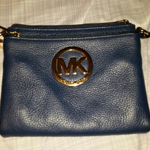 MICHAEL Michael Kors - Navy Blue MK Crossbody Bag from Ivette's ...