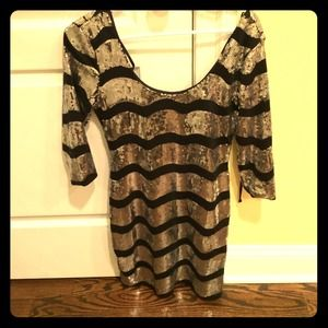Black and Silver Sequence Dress