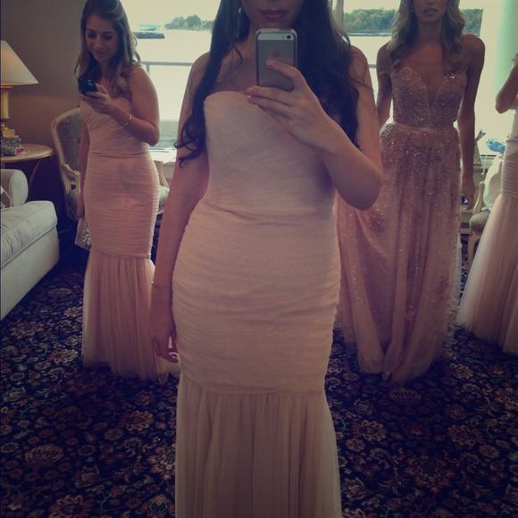 Amsale Dresses | Tulle Bridesmaid Dress In Blush | Poshmark