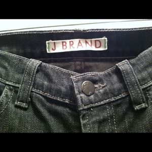 J Brand Low Rise Pencil Leg Black Stretch Jeans