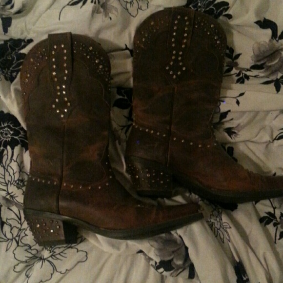 Studded Cowgirl Boots