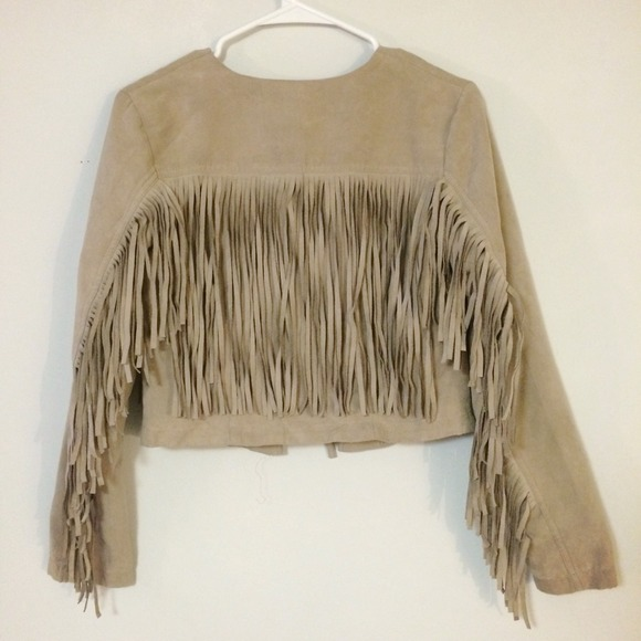 h&m fringed jacket