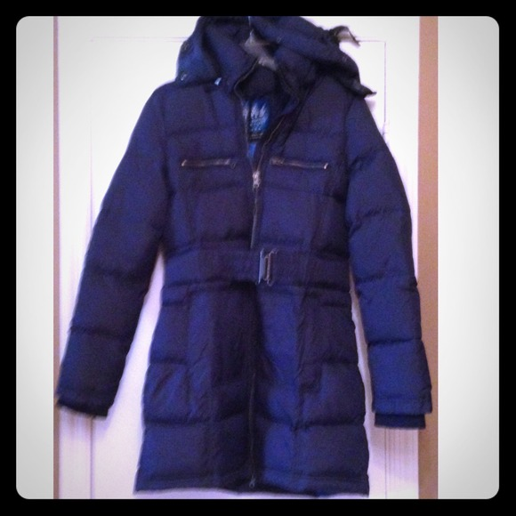 77% off Zara Outerwear - 🎉HP🎉Real feather down jacket - navy ...