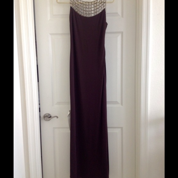 Saks Fifth Avenue Dresses | Brown Fulllength Evening Dress | Poshmark
