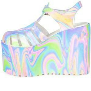 Wanted! UNIF Hella Jelly Platforms tie dye