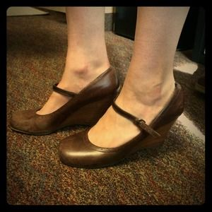 Brown, Steve Madden Wedges