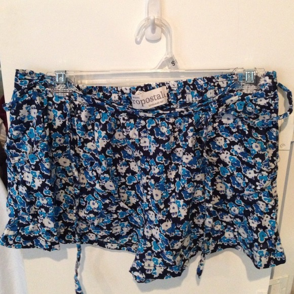 60% off Aeropostale Pants - Dressy Shorts with cute blue flower ...